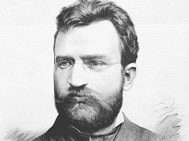 Josef Kořenský - portrét z Humoristických listů č. 32 z roku 1885