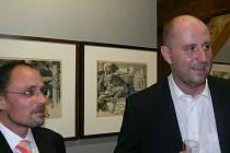 Spolumajitel sbírky, Jiří Lammel (vlevo) a Zdeněk Sklenář.