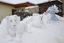 V Osíku vzniklo unikátní sněhové ZOO.