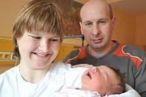 Manželé Martina a Petr Jakoubkovi přivedli na svět v litomyšlské porodnici  na Štědrý den dcerku Lucii.