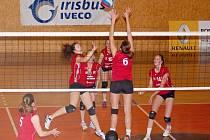 Juniorky Svitav v zápase s Olomoucí.