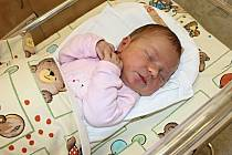 SÁRA VÍTKOVÁ se narodila 31. srpna v 19.04 hodin. Vážila 3,45 kilogramu a měřila půl metru. S rodiči Lenkou a Matějem a sestřičkou Laurou bude bydlet ve Svitavách.
