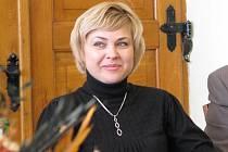 Místostarostka ukrajinského města Romny Angelika Okipna při návštěvě Moravské Třebové.
