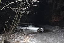 Nehoda BMW u Moravské Třebové.