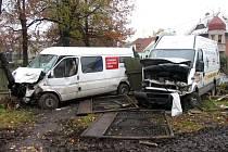 Ve čtvrtek se na výpadovce v Moravské Třebové srazily dva automobily.
