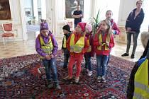 Děti si prohlédly reprezentační prostory Pražského hradu a a podívaly se i po krásách hlavního města.