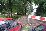 Výstavba nových parkovacích míst u litomyšlské nemocnice.