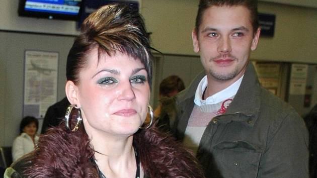 Karolína Pavlíková s Davidem Pažoutem.