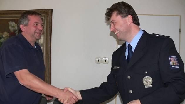 Starosta Jevíčka se zástupci obvodního oddělení policie.