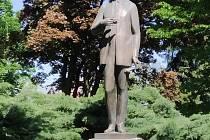 Pomník Bohuslava Martinů v Poličce.