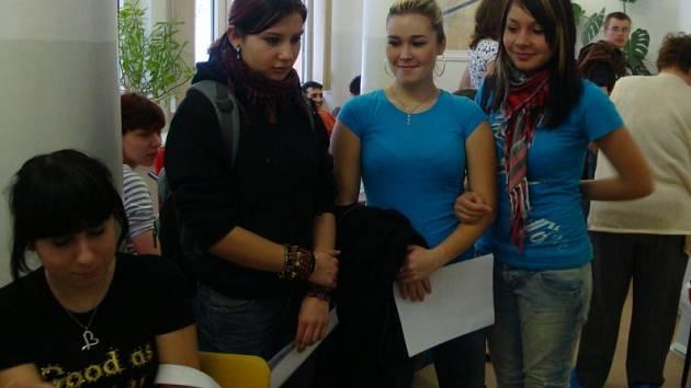 Dárci krve z Litomyšlského gymnázia.