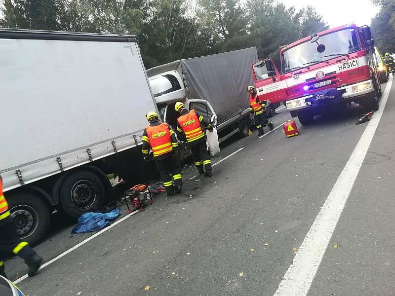Vážná nehoda na silnici I/35 u Gruny.