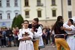 مردم در Moravská Třebová روز شنبه از Slamák 2021 لذت بردند ، یعنی.  تعطیلات برداشت و آبجو