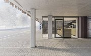 Vizualizace parkovacího domu u nemocnice.