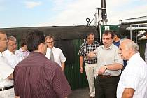 Z otevření bioplynové stanice ve Sloupnici.