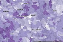 Mapa rodáků ukazuje, kde jsou lidé věrni své obci.