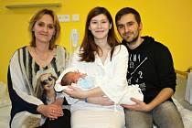 MARCEL BINDER. Narodil se 31. ledna Kristýně Sodomkové a Marcelovi Binderovi ze Svitav. Měřil 52 centimetrů a vážil 3,4 kilogramy.