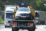 Nehoda na I/35 si vyžádala těžké zranění mladého řidiče.