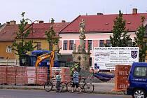 Rekonstrukce náměstí v Jevíčku.