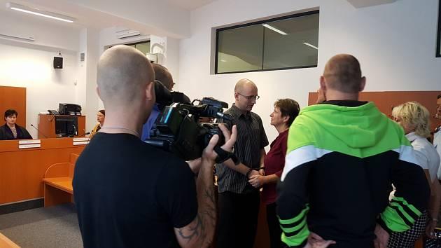 Čtyřiadvacetiletý Michal Kalášek u soudu.