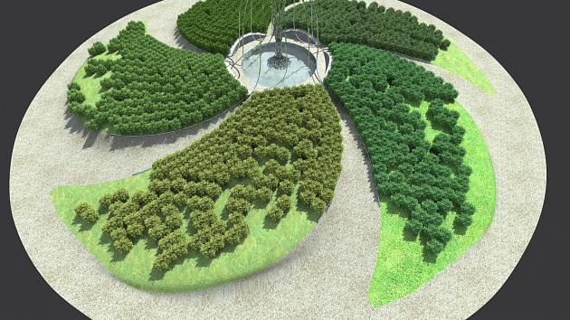 Vizualizace největšího kruhového objezdu ve Svitavách