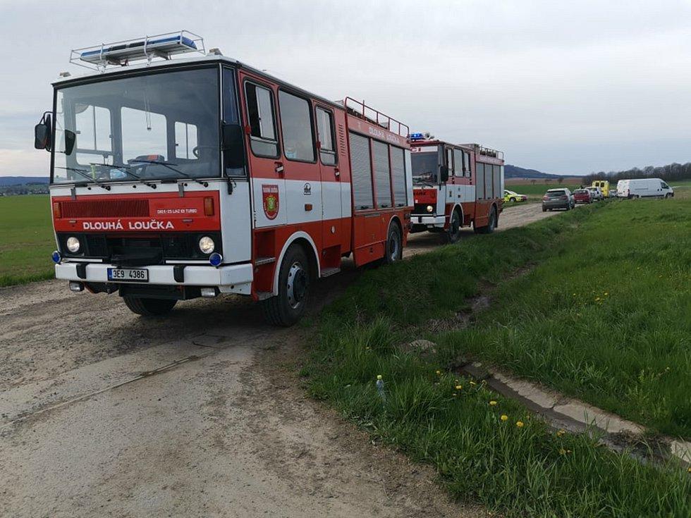 Požár bioplynky v Dětřichově u Moravské Třebové.