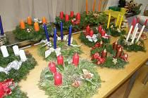 Adventní výstavu, kterou připravila Oblastní charita Polička.