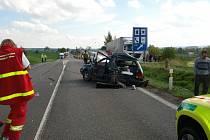 Vážná nehoda se stala v pondělí krátce po čtrnácté hodině nedaleko čerpací stanice v Hradci nad Svitavou.