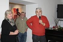 Jiří a Vendula Látalovi na vernisáži výstavy výtvarníků svitavského okresu