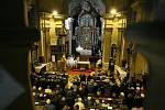 Zádušní mše za Josefa Luxe v Hemži u Chocně.