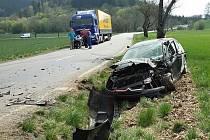 Nehoda u Městečka Trnávky.