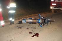 Nehoda v Cerekvici nad Loučnou.
