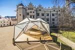 Laminátový stan u zámku v Litomyšli
