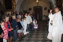 Nedělní mše v kostele svatého Jiljí ve Svitavách patřila dětem.