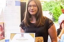 Oceněná dobrovolnice Karolína Benešová.
