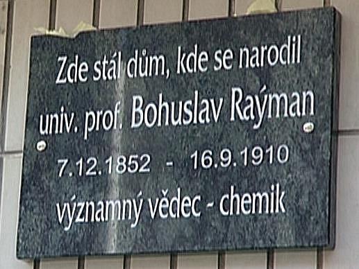 Odhalení desky Bohuslavu Raýmanovi