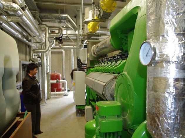 Bioplynová stanice v areálu jevíčských zemědělců.