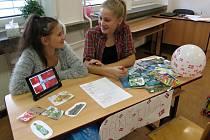 Evropský den jazyků na svitavském gymnáziu.