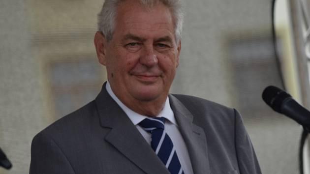 Prezident Miloš Zeman v Moravské Třebové