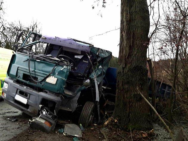 Nehoda v Širokém dole.