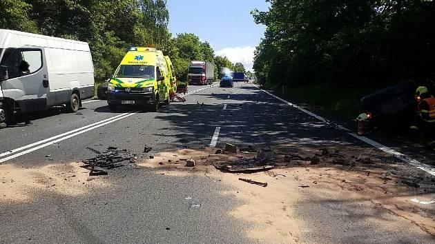 Ve středu kolem poledne omezila provoz na silnici I/35 u Moravské Třebové dopravní nehoda tří vozidel.