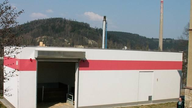 Kotelna na spalování dřevní štěpky v Brněnci je jedním z projektů spolufinancovaných z fondů Evropské unie.