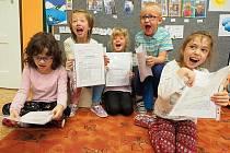Předávání vysvědčení ve Speciální základní škole v Bystrém