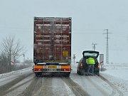 Sníh komplikoval dopravu na Svitavsku.