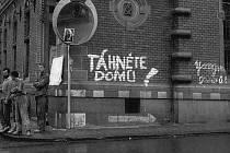 Vjezd na svitavské náměstí 23. srpna 1968.