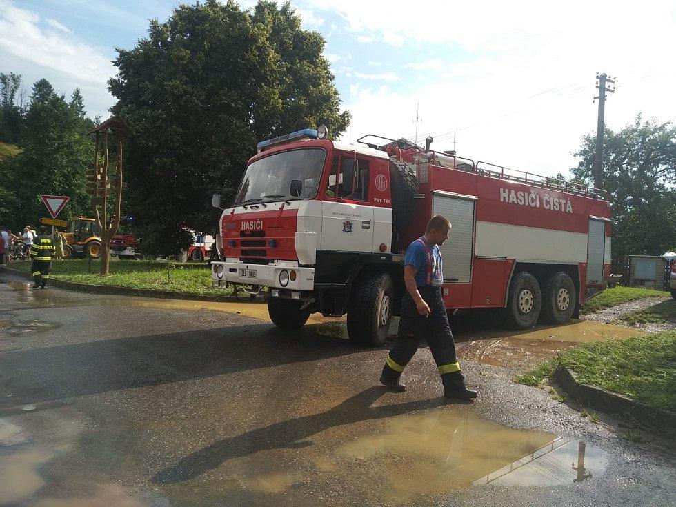 Blesková povodeň v Suché a v Člupku