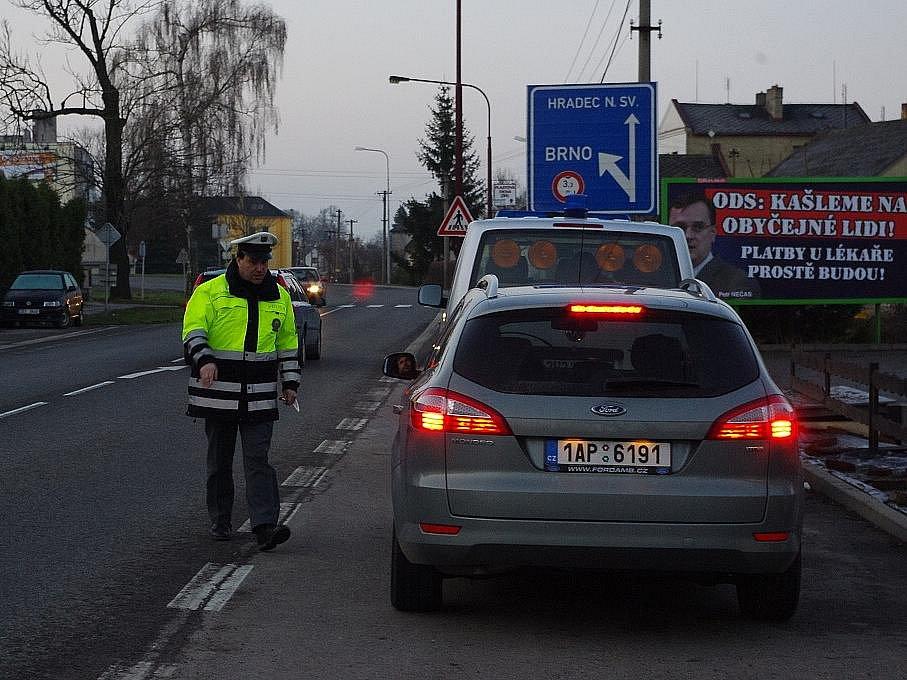 Policisté kontrolovali, jestli koledníci vystřízlivěli.