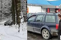 PLANÉ SLIBY. Paní Dolánková sice dostala vyplacený důchod za několik let a slíbila, že žebrat nebude, ale slovo nedrží. Před pár dny se objevila dvojice v novém autě a žena dál žebrá.