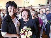 Předávání výroční ceny svitavského klubu Laurus a ocenění pro Blanku Homolovou.