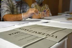 Volby v Modřeci u Poličky v hasičárně.